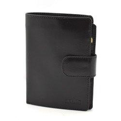 Męski portfel skórzany pm9 czarny TMC Premium