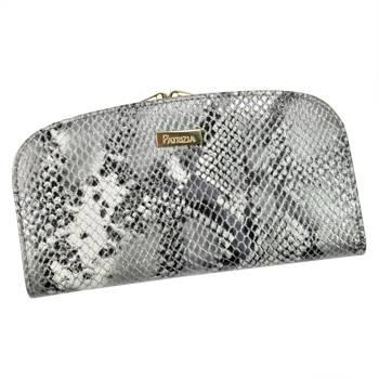 Piękny duży damski portfel w skórę węża z RFID
