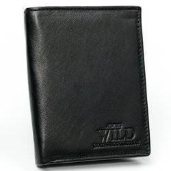 Skórzany portfel męski pionowy z rozbudowaną sekcją na dokumenty — Always Wild