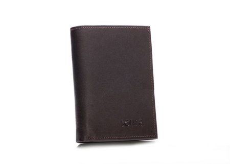 Elegancki brązowy skórzany męski portfel SOLIER SW09