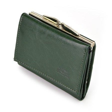 Mała damska portmonetka, portfel ze skóry Elkor