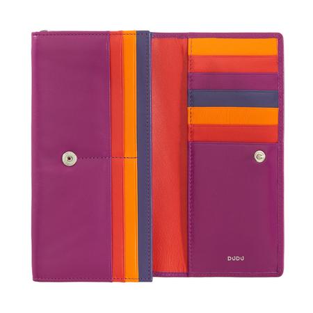 Piękny elegancki duży damski portfel skórzany DuDu