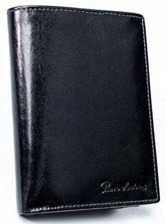 Pionowy portfel męski składany ze skóry naturalnej bez zapięcia — Pierre Andreus