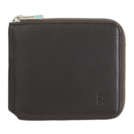 Prosty elegancki mały męski portfel skórzany Dudu