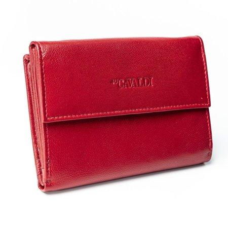 Skórzany portfel damski RFID stop Cavaldi® zatrzask
