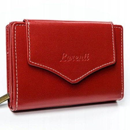 Skórzany portfel damski marki LORENTI®, zapinany na zatrzask oraz zamek